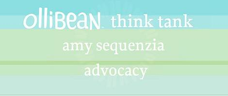 Ollibean Think Tank Amy Sequenzia Advocacy on turquoise and green background