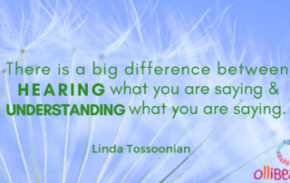 There is a big difference between HEARING what you are saying & UNDERSTANDING what you are saying. Linda Tossoonian on Ollibean
