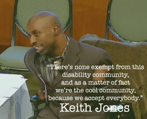 Disability Activist Keith Jones on Community