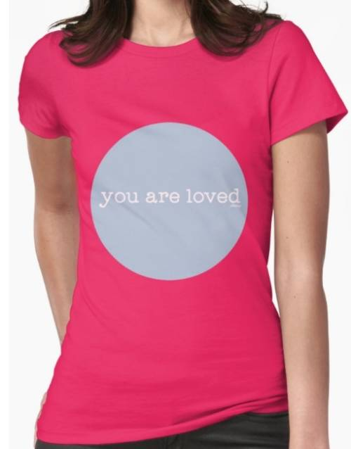 "Pink Ollibean ""you are loved"" Circle T-shirt"