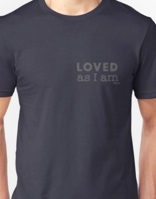 "Ollibean"" Loved as I am"" Navy Unisex T Shirt"