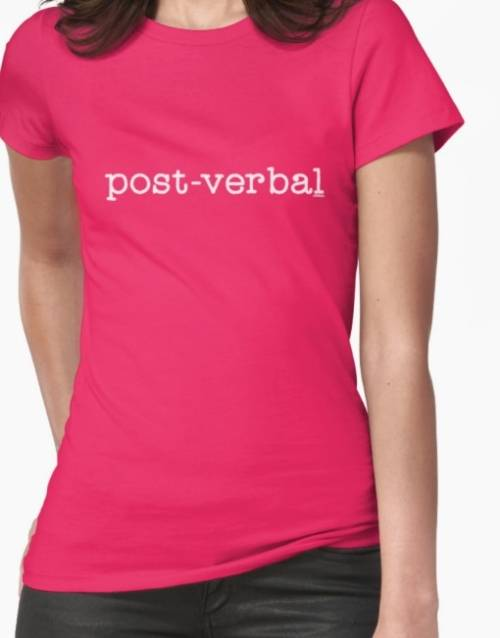 "Ollibean ""POST-VERBAL"" pink t-shirt"