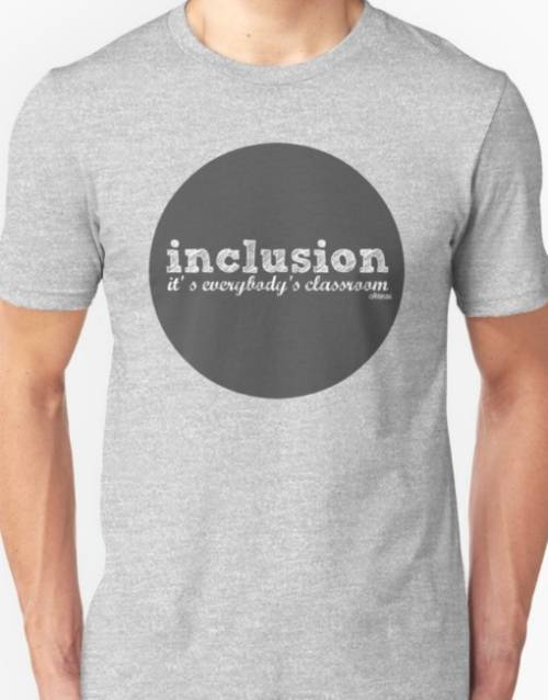 "Ollibean T-shirt ""inclusion it's everybody's classroom"""
