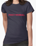 "Ollibean ""POST-VERBAL"" blue t-shirt"