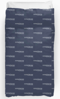 "Ollibean ""Compliance is not my goal"" navy Duvet Cover"