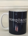 "Ollibean ""Compliance is not my goal"" navy mug"