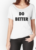 "Ollibean ""Do Better"" relaxed fit tee"