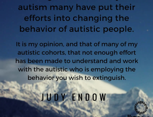 "Fear, Anxiety and Autistic ""Behavior"""