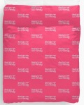 "Ollibean Pink and White ""Design- Make It Universal"" Duvet Cover"