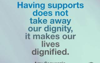 Having supports does not take away our dignity, it makes our lives dignified. Amy Sequenzia on Ollibean